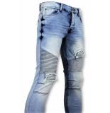 New Stone Skinny jeans met scheuren heren blauw