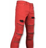 New Stone Rode biker skinny jeans heren