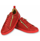 Cash Money Luxe heren sneakers rood