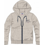 Tommy Hilfiger Essential-classic-zip-sweat grijs