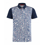 A Fish Named Fred Polo-pique-floral blauw