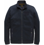 PME Legend Zip-jacket-structure-sweat blauw