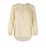 Saint Tropez Candy stripe p shirt geel