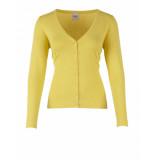 Saint Tropez Long sleeve cardigan geel