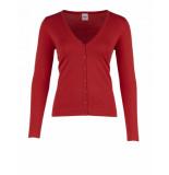 Saint Tropez Long sleeve cardigan rood