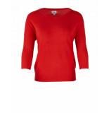 Saint Tropez Knit blouse w rib rood