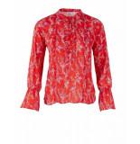 Saint Tropez Floral printed blouse rood