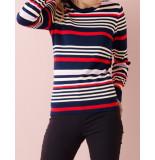 Saint Tropez Striped sweater blauw