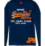 Superdry Shirt-shop-longsleeve-duo blauw