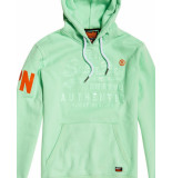 Superdry Vintage-pastel-hooded groen
