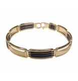 Christian Bicolor armband met keramiek geel goud