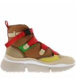 Chloe Sneakers sonnie high bruin cognac