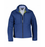 State of Art Jas korte-jas met stretch en regular fit blauw