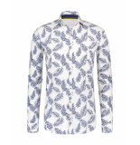 Blue Industry Overhemd shirt wit
