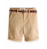 Maison Scotch Longer length chino shorts beige
