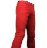 New Stone Exclusieve ribbed jeans rood