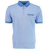 Born with Appetite Appetite tim jacquard polo double me blauw