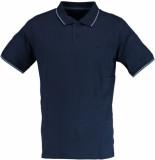 Attention Knopf polo shirt uni 271000647/602 blauw