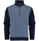 Baileys Shirt style zip 813187/534 blauw