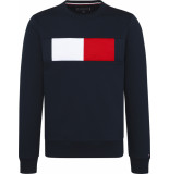 Tommy Hilfiger Flag chest logo sweatshirt mw0mw09713/403 tommy blauw