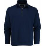 Baileys Sweater met rits 913103/65 trui blauw