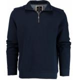 Baileys Sweater met rits 913159/55 trui blauw