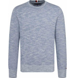 Tommy Hilfiger Slub structured sweater mw0mw09796/004 - licht blauw