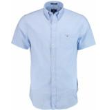 Gant Broadcloth reg ss bd 3046401/420 blauw