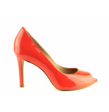 Tube Pumps high heels oranje rood