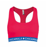 Muchachomalo Girls racer back solid rood