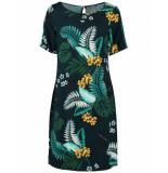 Geisha Dress botanisch navy blauw
