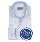 Ledûb overhemd met extra lange mouwen blauw