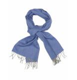 Profuomo Blue solid pp1s30011c/m shawls blauw