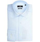 Hugo Boss Jenno overhemd 50404696/450 overhemd licht blauw