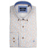 Giordano Lange mouw overhemd 917013/61 overhemd blauw