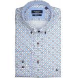 Giordano Lange mouw overhemd 917028/61 overhemd blauw