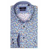 Giordano Lange mouw overhemd 917023/61 overhemd blauw