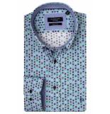Giordano Lange mouw overhemd 917023/71 overhemd groen
