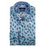 Giordano Lange mouw overhemd 917024/61 overhemd licht blauw