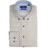 Giordano Lange mouw overhemd 917025/20 overhemd geel