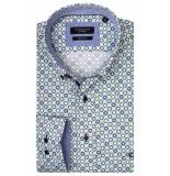 Giordano Lange mouw overhemd 917028/71 overhemd groen