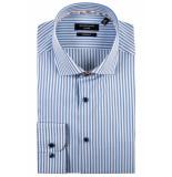 Giordano Lange mouw overhemd 917809/61 overhemd blauw