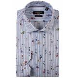 Giordano Lange mouw overhemd 917817/62 overhemd blauw
