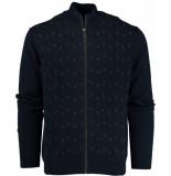 Baileys Vest met rits 912012/55 gebreid blauw