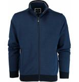 Baileys Vest met rits 912207/37 gebreid blauw