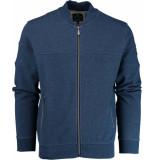 Baileys Vest met rits 912275/36 gebreid blauw