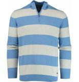 Baileys Wit gestreepte pullover 918469/234 trui licht blauw