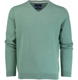Basefield V-hals pullover 219013879/502 trui groen