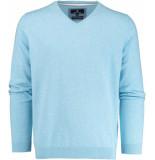 Basefield V-hals pullover 219013879/604 trui licht blauw