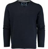 Basefield V-hals pullover 219013879/613 trui blauw